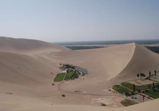Visiting Yueyaquan : A Desert Oasis in China